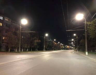 Lutsk - replacement of obsolete lamps with LED ones