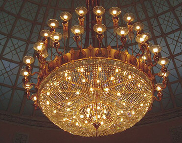 Reconstruction, restoration of old chandeliers