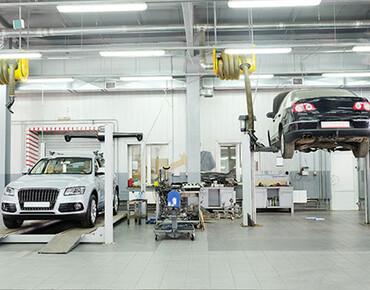 Car service lighting, service stations, car workshops