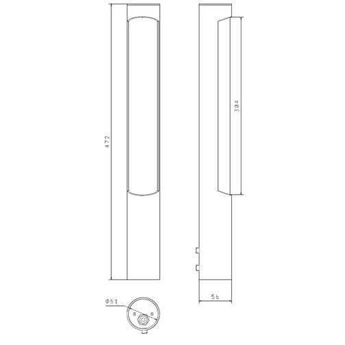 Світильник ДСУ05У-25-1-714 «STICK»
