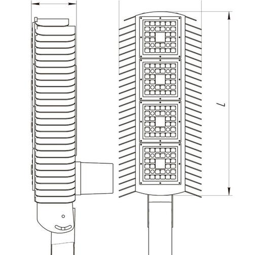 Street lamp of the DSU05U (CITY/ CITY+NEMA7)